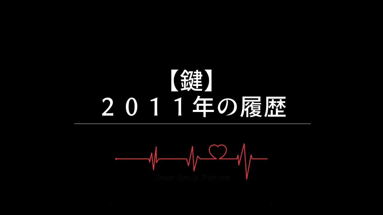 【鍵】2011年の履歴